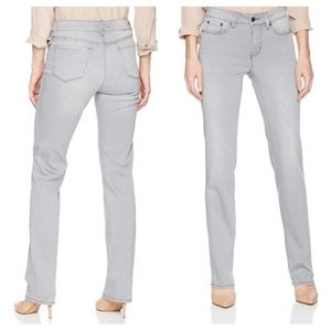 NYDJ Light Wash Marilyn Straight Jeans in Carbon 2